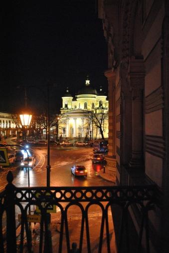 Вид с балкона на Спасо-Преображенский собор
